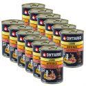 Konzerva ONTARIO pre psa, jahňacie, ryža a olej - 12 x 400g