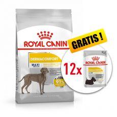 ROYAL CANIN Maxi Dermacomfort granule pre veľké psy s problémami s kožou 10 kg + DARČEK