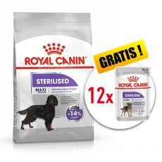 ROYAL CANIN Maxi Sterilised granule pre kastrované veľké psy 9 kg + DARČEK