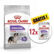 ROYAL CANIN Medium Sterilised granuly pre kastrované stredné psy 10 kg + DARČEK