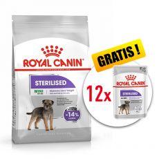 ROYAL CANIN Mini Sterilised granuly pre kastrované malé psy 8 kg + DARČEK