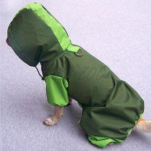 Pršiplášť pre psa - olivovo-hráškový, XS