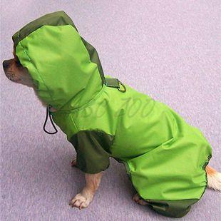 Pršiplášť pre psa -zelený, S