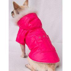 Kabátik pre psíka - tmavoružový, XXL