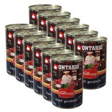 Konzerva ONTARIO Culinary Beef Goulash 12 x 400 g