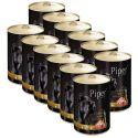 Konzerva Piper Adult s kuracími srdciami a hnedou ryžou 12 x 400 g