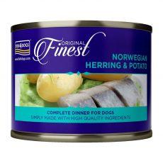 Fish4dogs Sleď z Nórska a zemiak 185 g