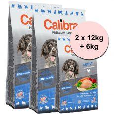 CALIBRA Dog Premium Line ADULT 2 x 12kg + 6kg
