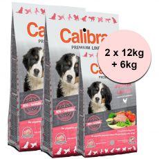 CALIBRA Dog Premium Line JUNIOR LARGE 2 x 12kg + 6kg
