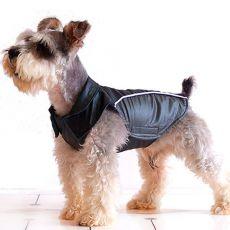 Vestička pre psov - čiernosivá, suchý zips, XXL
