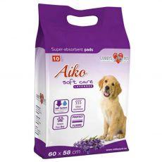 AIKO Soft Care levanduľové podložky pre psov 10 ks - 60 x 60 cm