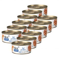 Brit Care Cat Beef with Olives 12 x 70 g
