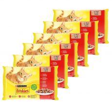 Kapsičky Friskies Cat kura, hovädzie, jahňa a kačka v šťave 6 x (4 x 85 g)