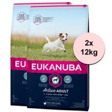 Eukanuba Active Adult Small Breed 2 x 12 kg