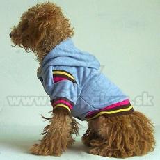 Svetrík s kapucňou pre psa - sivý, XL