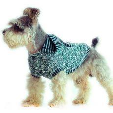 Bavlnený sveter s kapucňou pre psov - sivozelený, XXL