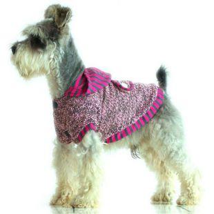Svetrík s kapucňou - ružovosivý, bavlna, XXL