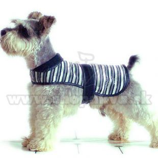 Vestička pre psy - čierno-biela, XL