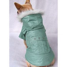 Kabátik pre psy s vreckom - zelený, M