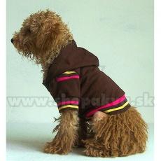 Svetrík s kapucňou pre psa - hnedý, XXL