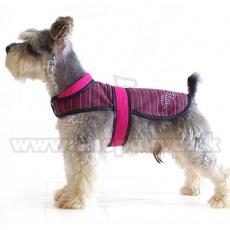 Vesta pre psy - ružovo-čierna, XL