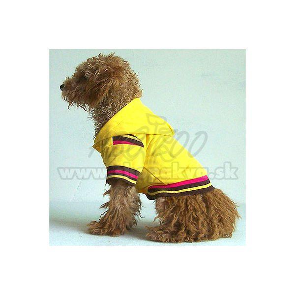 Svetrík s kapucňou pre psa - žltý 5a3eee71155