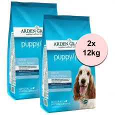 ARDEN GRANGE Puppy / Junior rich in fresh chicken 2 x 12 kg