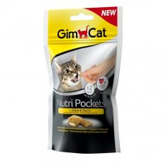 GimCat Nutri Pockets syr a taurín 60 g