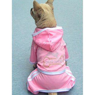 Súprava pre psa - kostička, ružová, XXL