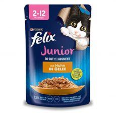 Kapsička FELIX Junior Fantastic s kuraťom v želé 85 g