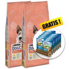PURINA DOG CHOW Active 2 x 14 kg + DARČEK