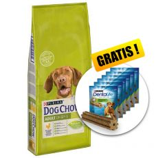 PURINA DOG CHOW ADULT Chicken 14 kg + DARČEK