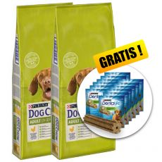 PURINA DOG CHOW ADULT Chicken 2 x 14 kg + DARČEK