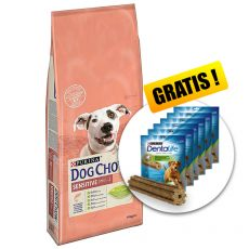 PURINA DOG CHOW SENSITIVE Salmon & Rice 14kg + DARČEK