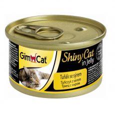 GimCat ShinyCat tuniak + syr 70 g
