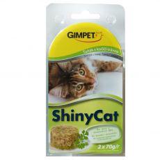 GimCat ShinyCat tuniak + mačacia tráva 2 x 70 g