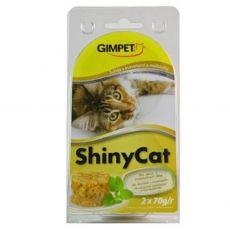 GimCat ShinyCat tuniak + krevety + slad 2 x 70 g
