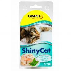 GimCat ShinyCat kura + krevety 2 x 70 g