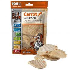 HUHU Bamboo chipsy s mrkvou 75 g