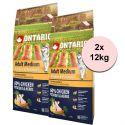 ONTARIO Adult Medium - chicken & potatoes 2 x 12kg