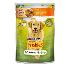 FRISKIES Adult VitaFit kapsička s kuraťom a mrkvou v šťave 100 g