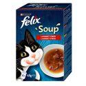 FELIX Soup Lahodný výber s hovädzím, s kuraťom, s jahňacím 6 x 48 g