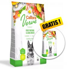 Calibra Dog Verve GF Adult M&L Salmon & Herring 12 kg + 2 kg GRATIS