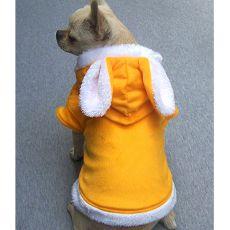 Sveter s uškami pre psíkov - žltý, XL