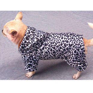 Overal pre psíka - leopard čierno-biely, XL