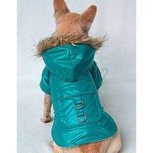 Vetrovka na psa - nepremokavá, zelená, XL