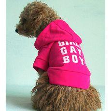 Pulóver s kapucňou pre psov - tmavoružový, XXL