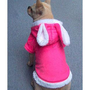 Sveter s uškami pre psíka - ružový, XXL