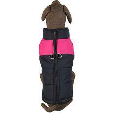 Vetrovka pre veľkého psa čierno-ružová L-XS