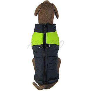 Vetrovka pre veľké psy čierno - zelená L-XS